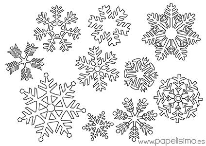 Copos de nieve para colorear papelisimo for Estrella de nieve