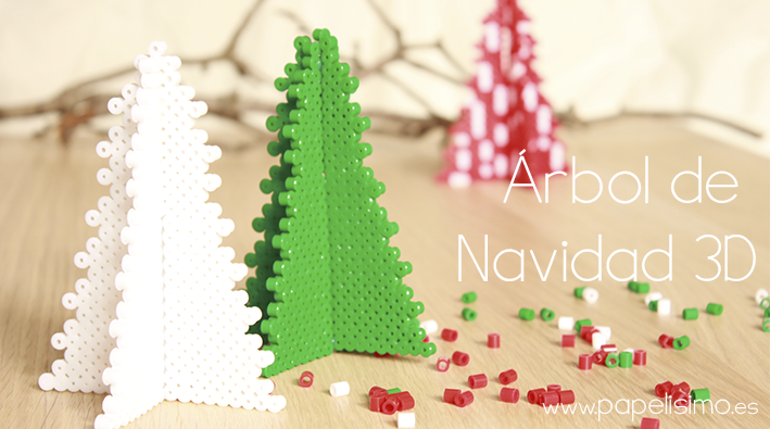manualidades faciles para niños patron como hacer arbol de navidad 3d hama beads