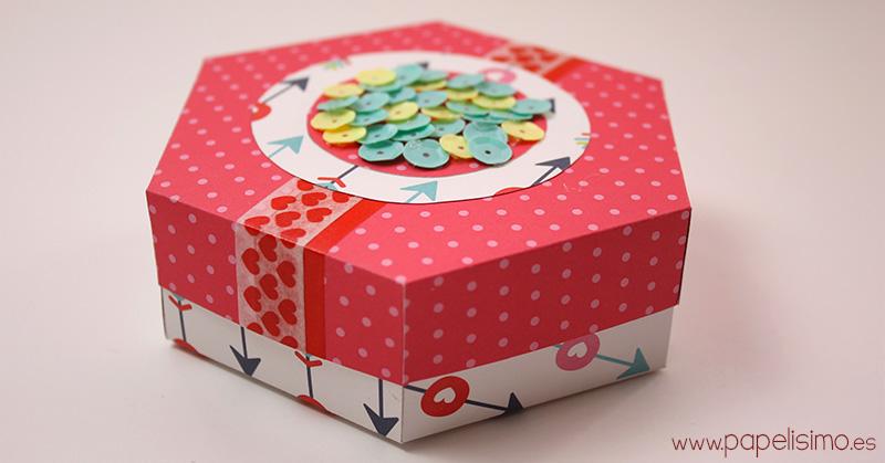 Caja-de-cartulina-hexagono-con-plantilla-hexagon-box