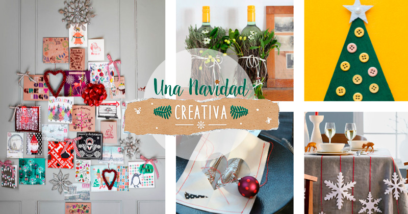 Ideas para decorar en navidad hechas a mano papelisimo for Ideas originales para decorar en navidad
