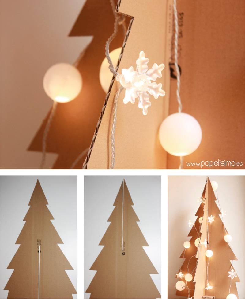 Como Hacer Arbol De Navidad Con Caja De Carton Papelisimo - Hacer-arboles-de-navidad