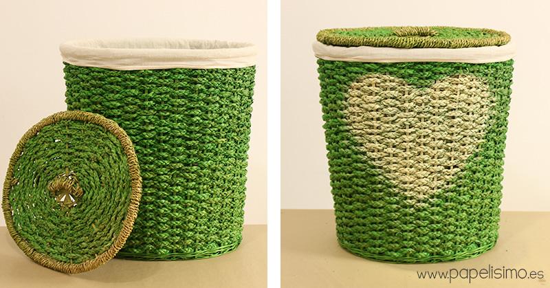 C mo pintar cestos para decorar en casa papelisimo - Cesto ropa mimbre ...