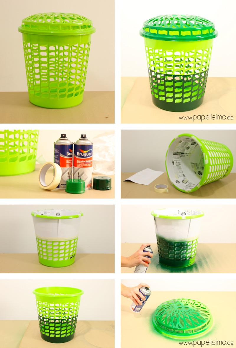 Como-pintar-cesta-de-plastico-para-la-ropa