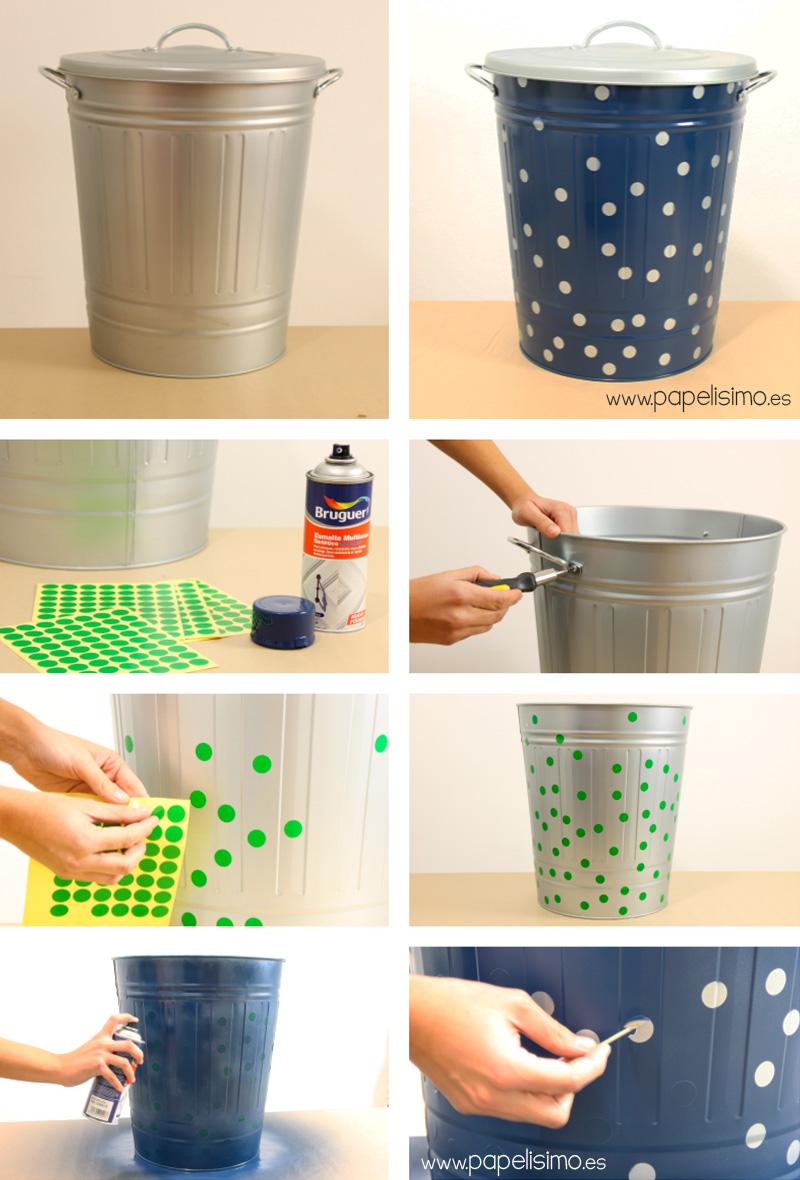 C mo pintar cestos para decorar en casa papelisimo - Manualidades pintar caja metal ...