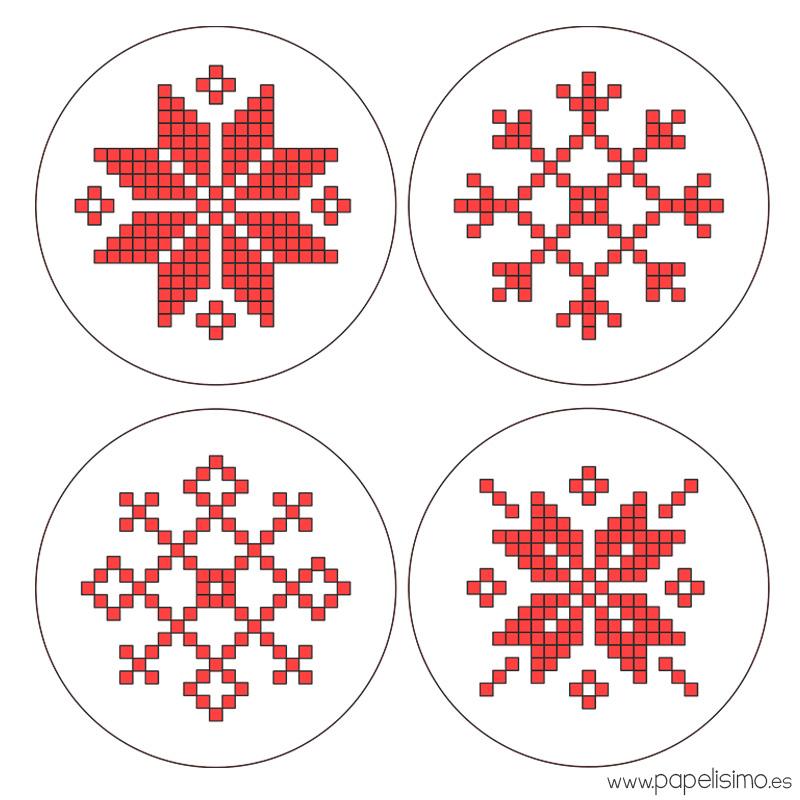 Copos-de-nieve-punto-de-cruz-cross-stitch-hama-beads-Snowflakes-Christmas