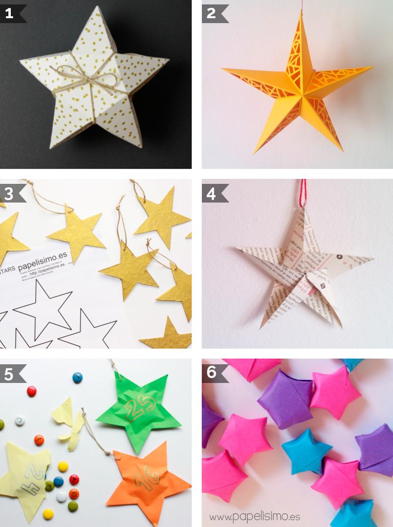 Estrellas f ciles para decorar el rbol de navidad - Para navidad manualidades ...