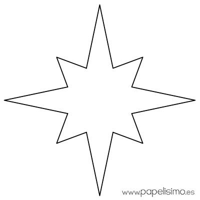 Plantillas de estrellas para imprimir papelisimo - Plantilla estrella navidad ...