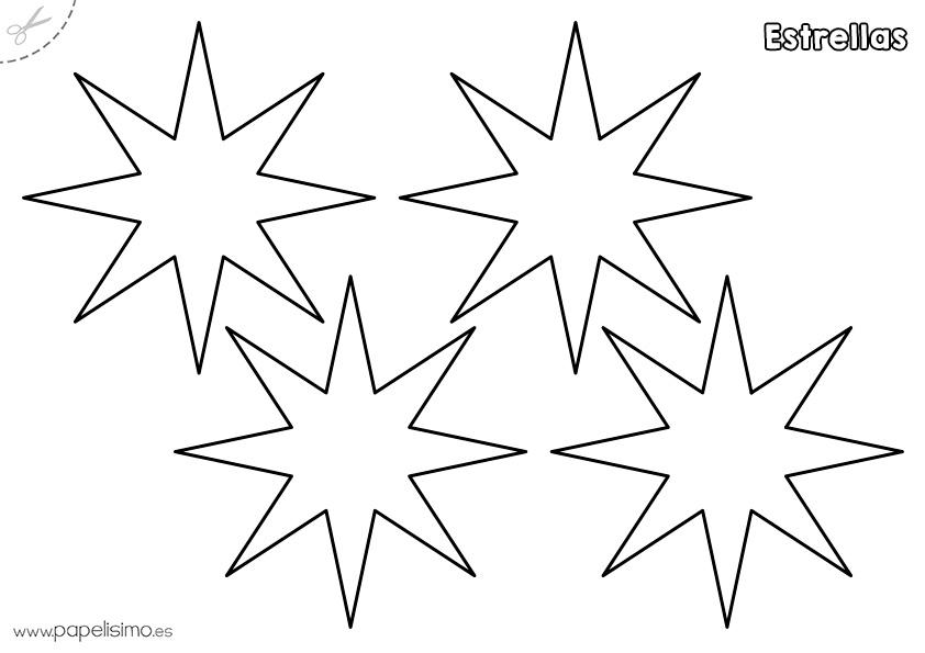 Plantillas de estrellas para imprimir - PAPELISIMO