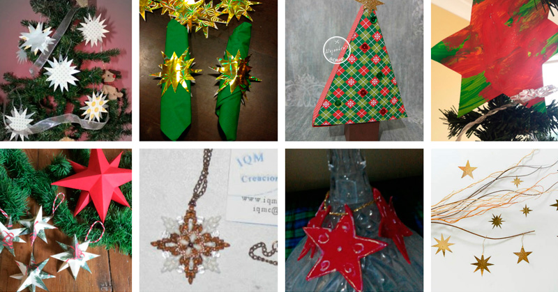 Manualidades-con-estrellas-de-Navidad