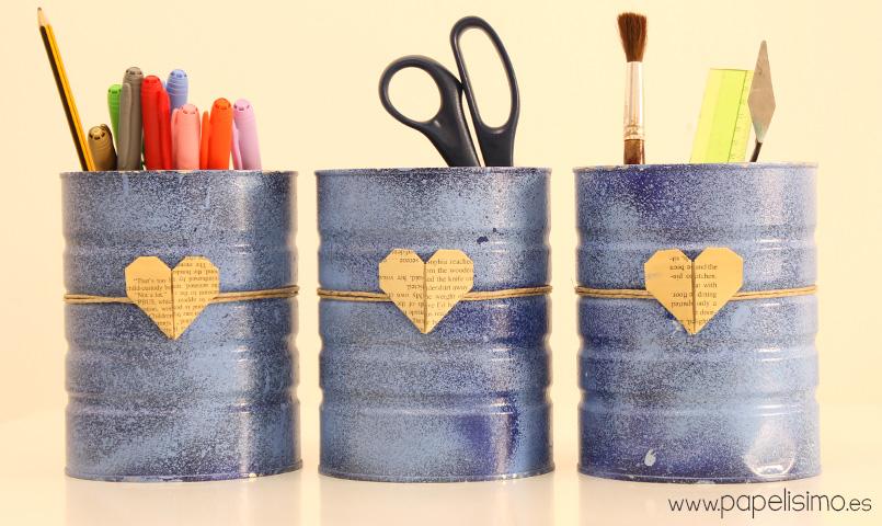 Organizador-com-latas-de-latas-faça-você-mesmo