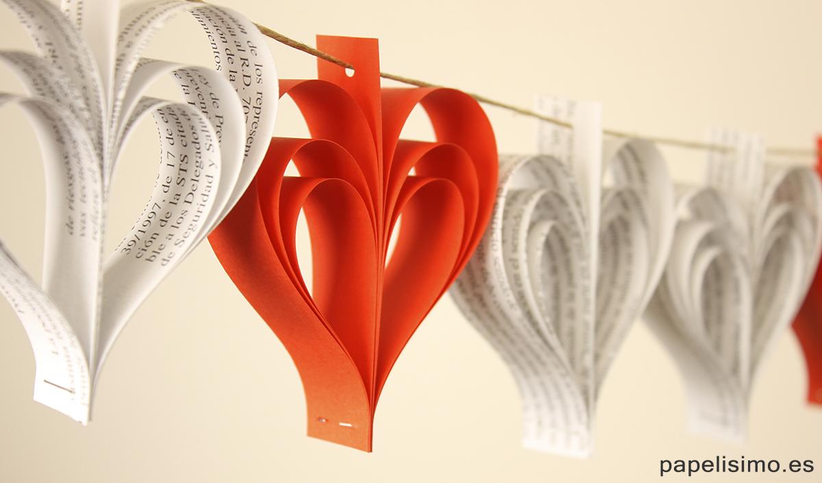 C mo hacer guirnaldas de papel de peri dico papelisimo for Crear mi casa en 3d