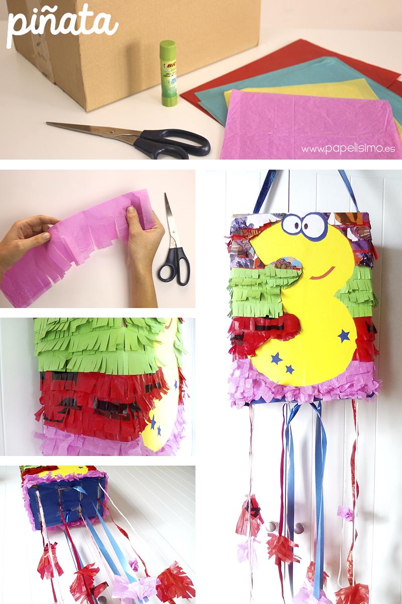Como hacer piñata de carton paso a paso