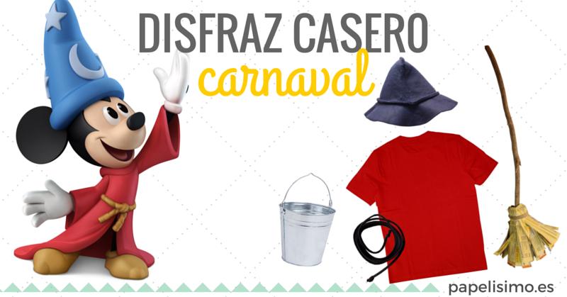 Disfraz casero de Mickey Mouse Carnaval