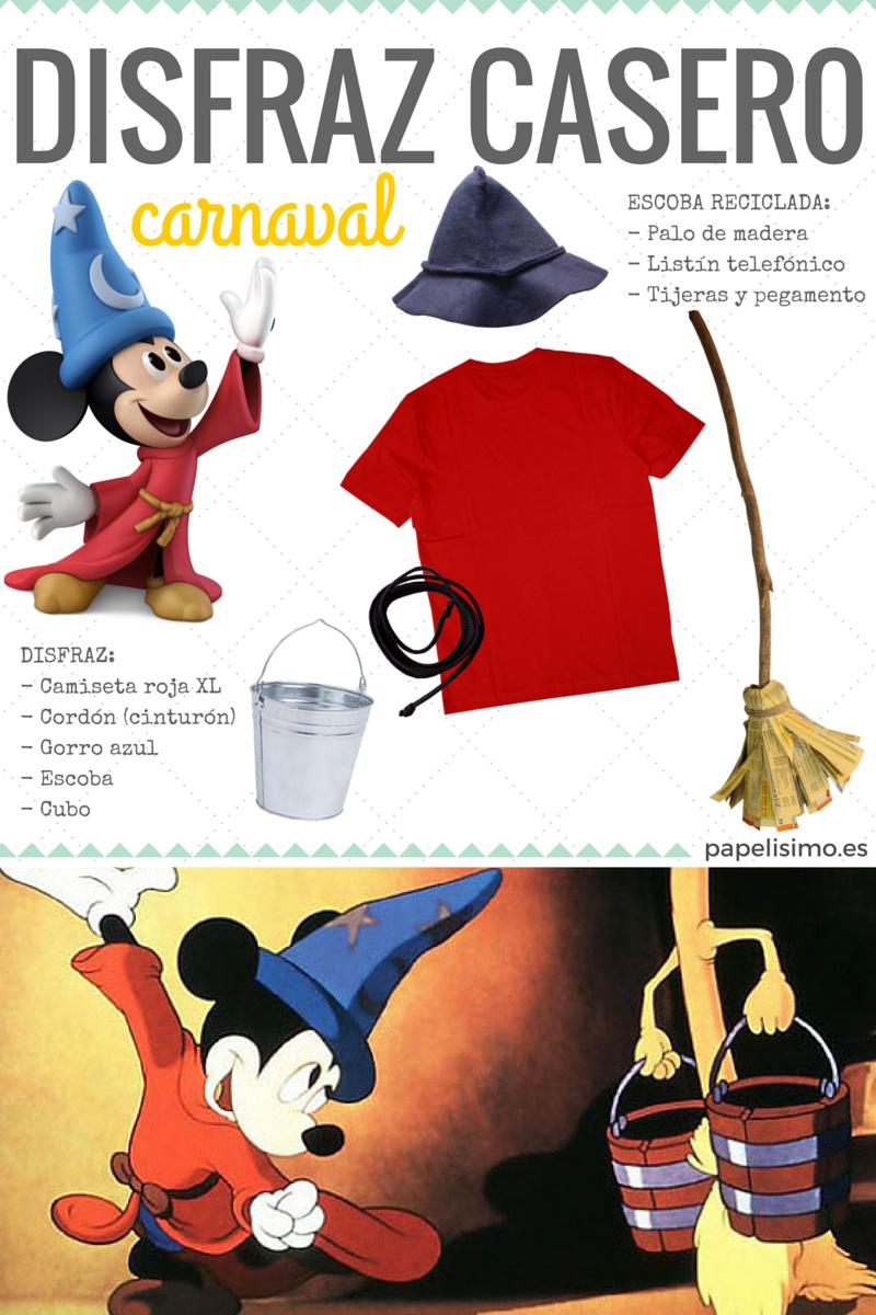 Disfraz casero niño Mickey Mouse Carnaval